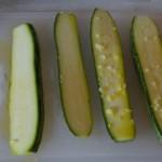 Zucchini mit Olivenöl und Knoblauch