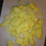 Kartoffel geschnitten