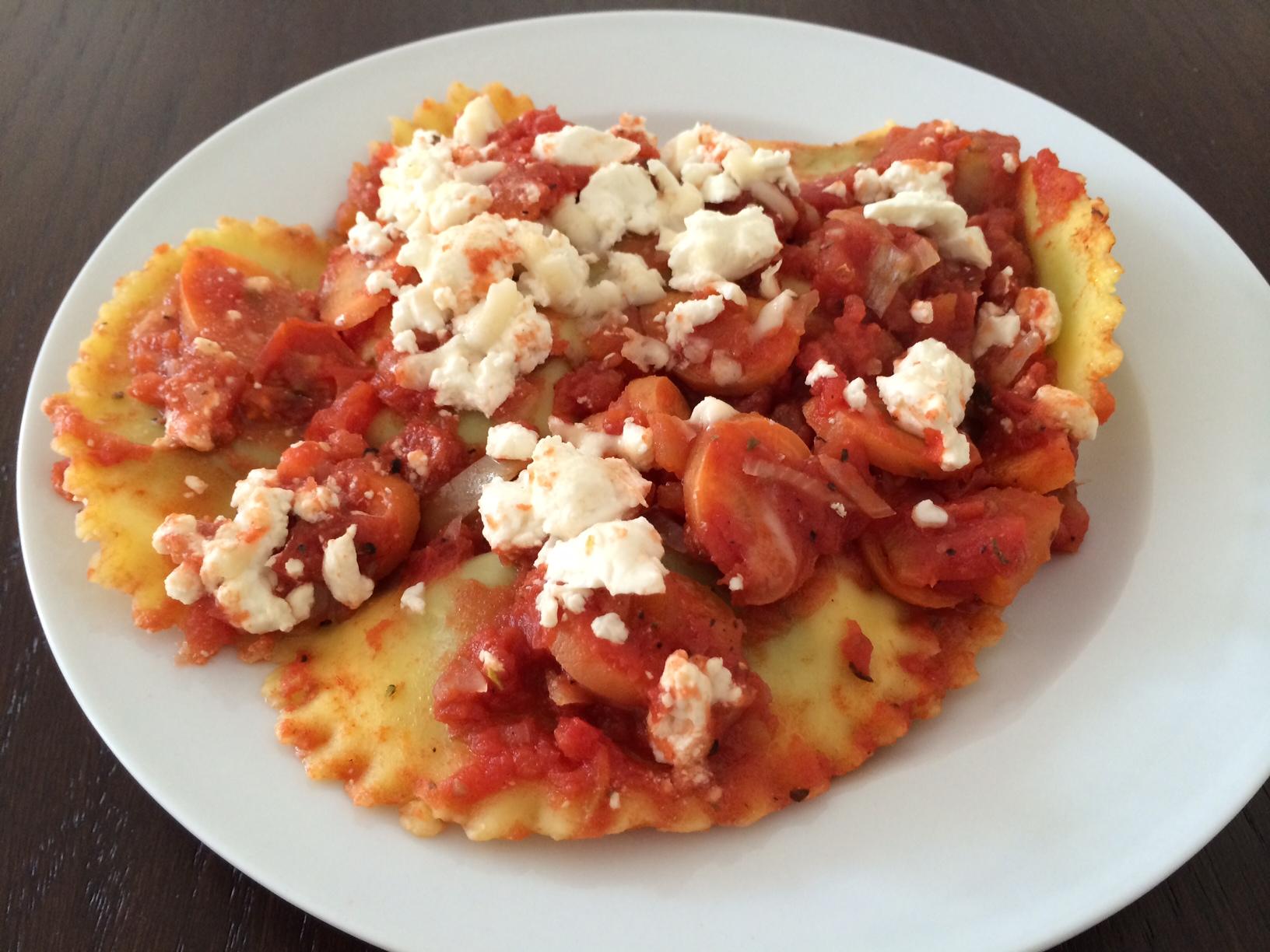 Tortilla mit Sauce
