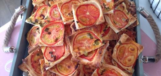 Tomaten-Basilikum-Blätterteig