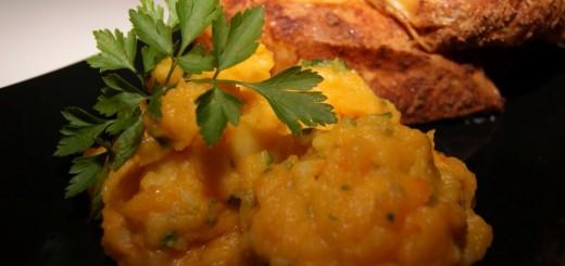 Kürbis-Kartoffel-Püree