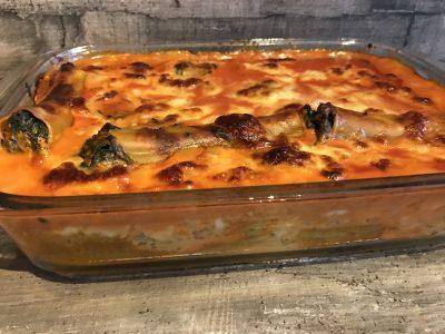 Cannelloni mit Spinat-Käse-Füllung
