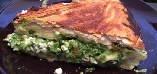 Pfannen-Börek mit Spinat-Käse-Füllung