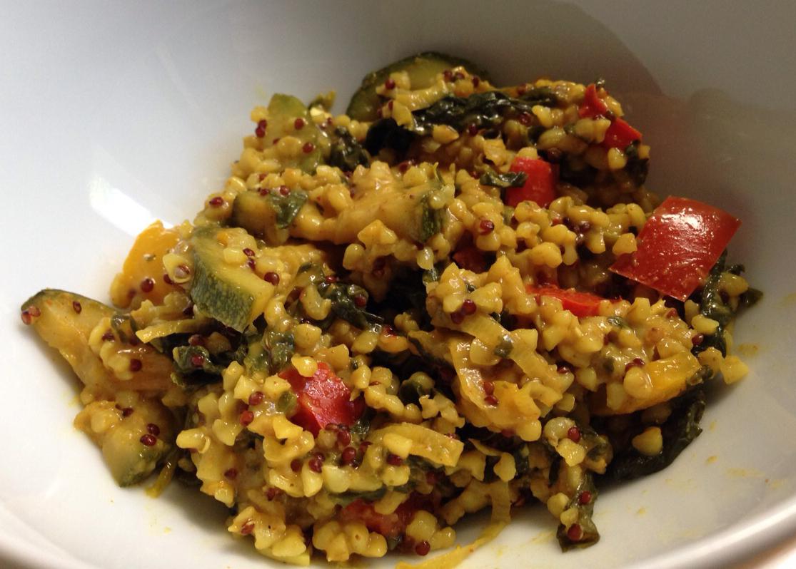 Bulgur-Quinoa-Gemüse-Pilaw