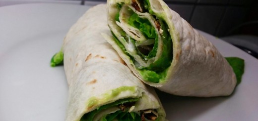 Avocado-Erbsen-Wraps