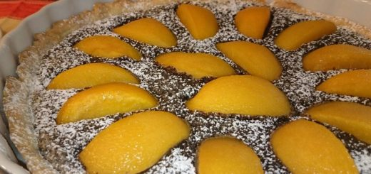 Pfirsich-Mohn-Tarte