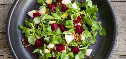 Linsen-Birnen-Rüben-Salat