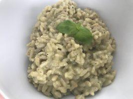 Basilikum-Kräuter-Risotto