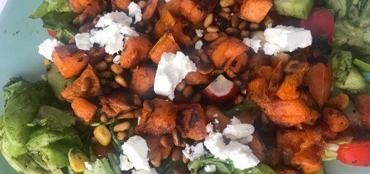 Süßkartoffel-Feta-Salat
